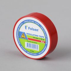 Insulating tape 15mmx10m, 120µm red PVC