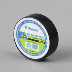 Insulating tape 15mmx10m, 120µm, black, PVC