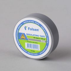 Insulating tape 15mmx10m, 120µm, gray, PVC