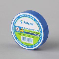 Insulating tape -18°C +105°C, 19mmx20m, 120µm, blue, PVC
