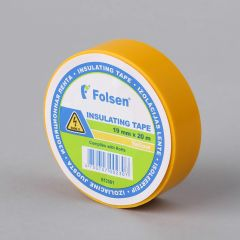 Insulating tape 19mmx20m, 120µm, yellow, PVC