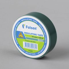 Insulating tape 19mmx20m, 120µm, green, PVC