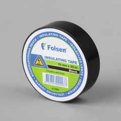 Insulating tape 19mmx20m, 120µm, black, PVC