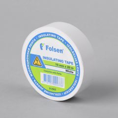 Insulating tape 19mmx20m, 120µm, white, PVC