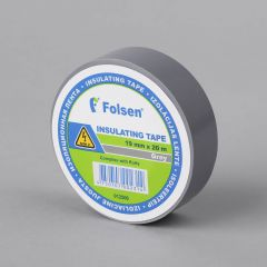 Insulating tape 19mmx20m, 120µm, gray, PVC