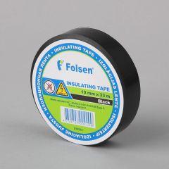 Isoleerteip, tulekindel, 19mmx33m, 120µm, must, PVC