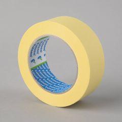Masking tape 80°C, 38mmx50m, yellow, paper