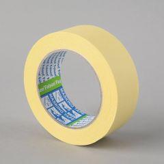 Masking tape 60°C, 38mmx50m, yellow, paper