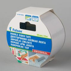 Universal double-sided PP tape 50mmx10m, transparent
