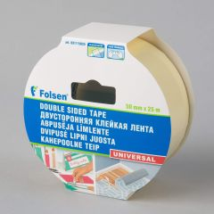 Universal double-sided PP tape 50mmx25m, transparent