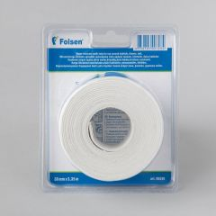 Waterproof bathroom tape 38mmx3,35m, white, butyl/silicone