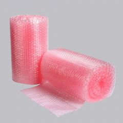 Антистатическая пузырчатая пленка 500ммх100м, 80µm розовая PE