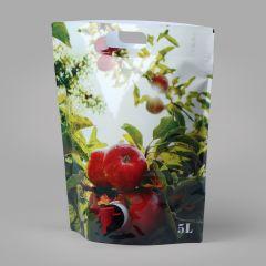 """Пакеты StandUp """"яблоки""""  для сока 5л с краном, LDPE"""