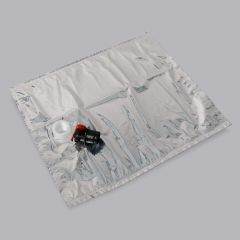 Silver Bag in Box plastic bag with push tap 20l, LDPE