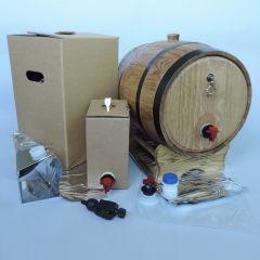 Деревянная бочка для пакетов Bag-in-Box 20л, коричневая