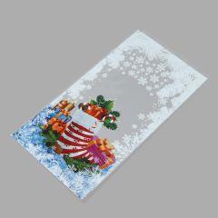 Poly bag Christmas Sock 200x380+30mm, 30µm, transp, OPP, 100pcs/pack