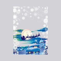 Poly bag Reindeer 200x330+30mm, 30µm, transp, OPP, 100pcs/pack