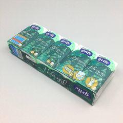 Pabertaskurätik Grite Blossom mint 3-kihiline, 210x210mm valge, pakis 10x10tk