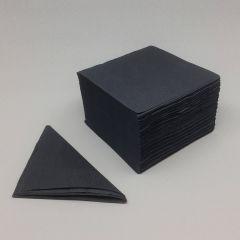 Must salvrätik, 2-kihiline, 240x240mm, paber, pakis 200tk