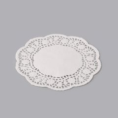 White paper round lace doily ø 100mm, 500pcs/pack