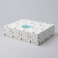 Kaanega paberist koogikarp Merry Christmas 245x210x70mm, pakis 5tk