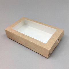Kartongist karp sahtli ja PP aknaga 200х120х40mm, pruun, pakis 50tk