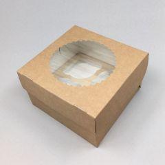 Kartongist 4 muffini karp PP aknaga 160x160x100mm, pakis 25tk