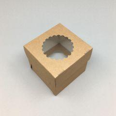 Kartongist 1 muffini karp PP aknaga 100x100x100mm, pakis 25tk