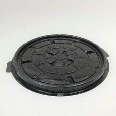 Tordikarbi põhi ø220mm, must PET, kastis 150tk