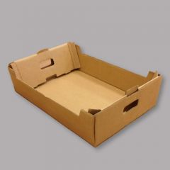 Cardboard box with handles 567x388x155mm, brown