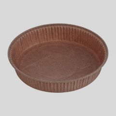 Brown paper round baking mould 600ml, 160x30mm, 50pcs/pack