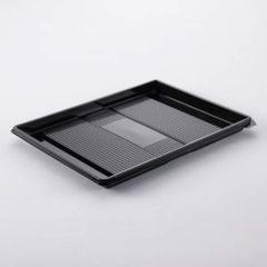 Black sushy tray 320x250x20mm, RPET, 120pcs/box