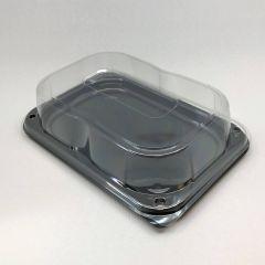 Kandiline must vaagen läbipaistva kaanega 240x170x70mm, PET, pakis 25tk