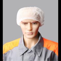 Ühekordsed mütsid SPINO valge 52cm laineline, PP, 100tk / pakk.
