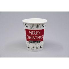 Бумажные стаканы Merry Christmas mix 300мл, ø90мм, 50шт/упак