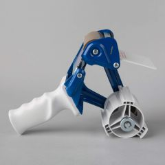 Packaging tape gun dispenser for 75mm gray/blue, metal