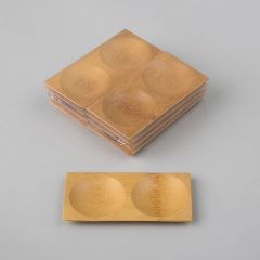 Taldrik Rond 2-osaline, 120x60mm, pruun, bambus, pakis 8tk