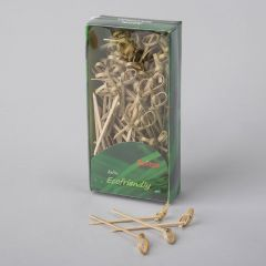 Twisted bamboo appetizer picks 70mm, 100pcs/pack