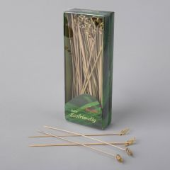 Twisted bamboo appetizer picks 180mm, 100pcs/pack