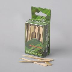 Paddle bamboo appetizer sticks 70mm, 100pcs/pack