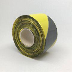 Piirdelint 70mmx500m, must/kollane, PE