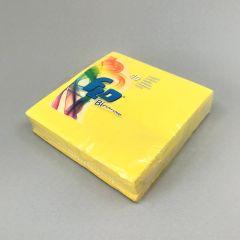 Kollane salvrätik Bicolor 330x330mm, paber, pakis 40tk