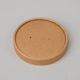 Kaas 225-500ml supitopsile ø96mm, pruun kartong/PP, pakis 25tk
