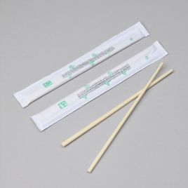 Bambusest sushipulgad kinnises paberis 210mm, pakis 100pr