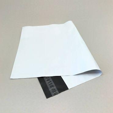 Liimiribaga kilest postikott 400x500+50mm, valge LDPE, pakis 100tk