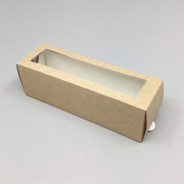 Kartongist 6 makrooni karp PP aknaga 180х55х55mm, pruun, pakis 50tk