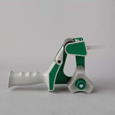 Packaging tape gun dispenser H66-CP for 50mm, gray/green, PP