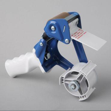 Packaging tape gun dispenser K 20B for 50mm, gray/blue, metal