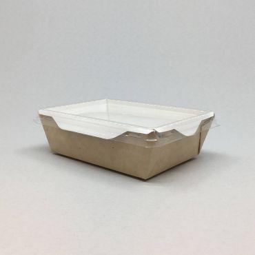Kandiline kartongkarp PET kaanega 400ml, 95x145x45mm pruun-valge, pakis 50kmpl