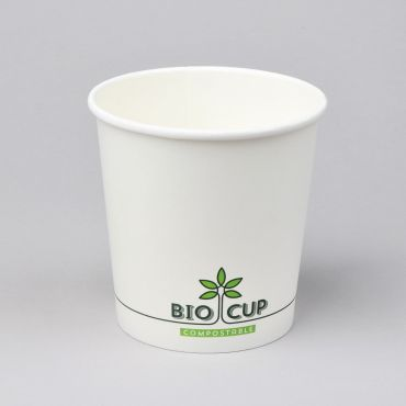 Biolagunev BIOCUP supitops 750ml, ø115mm, valge kartong/PLA, pakis 25tk